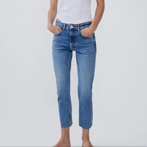 Zara Mid Rise Slim Jeans